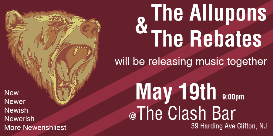 The Allupons and The Rebates @ The Clash Bar - May 19th 2012